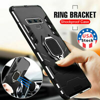US Armor Case for Samsung Galaxy Note 10 Plus S10 S10E  Magnetic Ring Holder