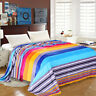 Fleece Throw Soft Blanket Cuddle Large Bed Sofa Couch Bedsure Warm Snug Rainbow