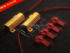 50W Load Resistor 4 Pcs T-Taps 6 Ohm Fix LED Bulb Fast Turn Signal Blinker 2 PCS