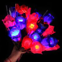 1pc LED Light Up Rose Flower Wedding Decoration Valentines'Day Halloween Flo NT