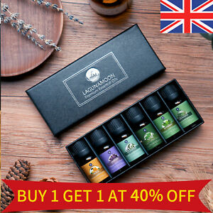 Lagunamoon Natural Essential Oils Top Aromatherapy Pure Diffuser 6 Bottles Set