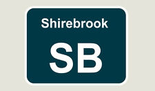 1x Shirebrook Train Depot Sticker/Decal 100 x 77mm