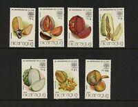 J903  Nicaragua 1986  F.A.O.  fruits & nuts  7v.  MNH
