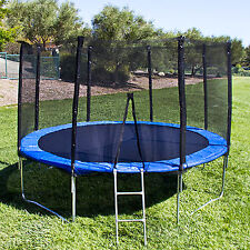 12 Ft Trampoline with Enclosure and Net W/Spring Outdoor Jump Exercise