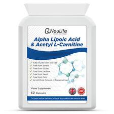 El ácido alfa lipoico & Acetil L-carnitina - 60 Cápsulas