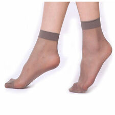 10 Pairs Women's Ankle Socks Sexy Ultra-thin Elastic Silky Short Silk Stockings