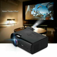 Portable 1080P LED Mini HD Projector Home Theater USB VGA HDMI AV with Speaker