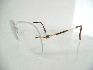 Silhouette Gold & Tortoise Brown Oversize Rimless Eye Glasses 7491 20 6053 135