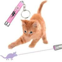 Interactive led Training Funny Cat Play Toy Laser Pointer Pen Mouse Animation @M