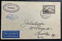 1929 Germany Graf Zeppelin LZ127 World Flight Airmail Cover to Brooklyn NY USA