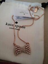 kate Spade NY Sparkling bow mini pendant, New
