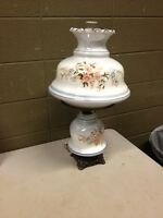 Gone With The Wind GWTW Electric Hurricane Lamp 3 Way Setting Flowers (c21)