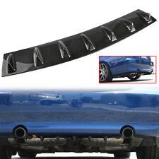 "33"" x 5"" Lower Rear Body Bumper Diffuser Shark 7 Fin Kit ABS Spoiler Universal"