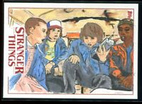2018 Stranger Things Season 1 Sketches Patrick Davis Sketch 1/1 The Gang Eleven