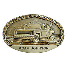 Wrecker Truck Personalized Belt Buckle OBM151P IMC-Retail