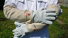 Beekeeper Gloves Beekeeping Bee gloves 100% Leather & Cotton Zean gloves- LARGE