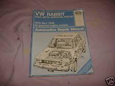VW rabbit, scirocco, jetta repair manual 75-89 yr