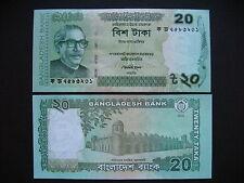 BANGLADESH  20 Taka 2012  (P55a)  UNC