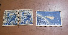 LOT OF 3 UNITED STATES 2 WASHINGTON 5 CENT STAMPS & PROJECT MERCURY 4 CENT STAMP
