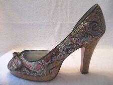 UNLISTED Ken Cole I'm Spending  women's peep toe d'orsay heels 7 1/2 M EUC   k-5