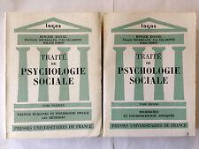TRAITE PSYCHOLOGIE SOCIALE 2 VOL 1967 ROGER DAVAL SCIENCES HUMAINES