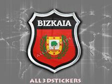 Pegatina Emblema 3D Relieve Bandera Bizkaia - Todas las Banderas del MUNDO