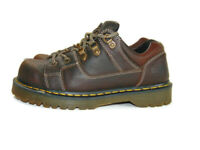 Dr. Doc Martens Oxfords Brown Leather Gold Stitching Chunky Lace Up Mens Size 10