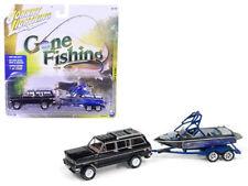 JOHNNY LIGHTNING 1/64 GONE FISHING 1981 JEEP WAGONEER W BOAT & TRAILER JLBT003-B