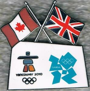 2012 London to 2010 Vancouver Olympic Games Marks Bridge Pin AMINCO USA