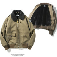 Winter Warm Men's Coat American Casual Coat B15 Flight Jacket Military Army Coat