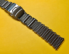 Stainless Mesh Style Solid Thick Polished Watch Bracelet Strap Band (20MM)