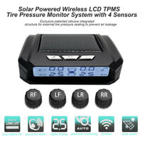 Solar TPMS Wireless LCD Auto Reifendruckkontrollsystem mit 4 Externe Sensoren
