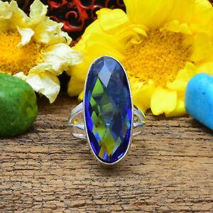Extraordinary Tanzanite Gemstone 925 Sterling Silver Handmade Ring All Size