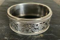 ANTIQUE MID VICTORIAN SILVER AESTHETIC STYLE HINGED BRACELET
