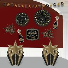 20's New Year Hollywood Room Party Decoration 10 PC Kit Banner Table Centerpiece