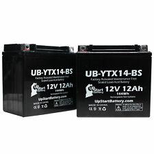 2X 12V 12AH Battery for 2011 Honda TRX420 Fourtrax Rancher 4x4 420 CC