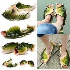 Women Men Kids Slippers Beach Fish Shower Sandals Flops Flip Funny Shoes HC