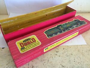 HORNBY DUBLO 2221 CARDIFF CASTLE 2 RAIL LOCO & TENDER RED BOX & INSERT ONLY 84/-
