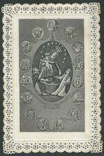 Santino Merlettato Vergine del S.S. Rosario di Pompei con Orazione OFFERTISSIMA