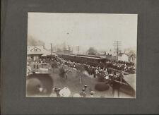 PRESIDENT HOOVERS PRESIDENTIAL TRAIN IN  BEAVER FALLS, PA.  VINTAGE ORIGINAL