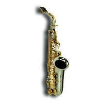 Suzuki Alto Saxophone CCSA-1 Concertino Series Matte Nickel Plate Body Gold Keys