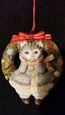 Schmid Cat Christmas Traa Ornament Kitty Cucumber 1985 Vintage