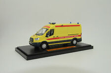 Rare !! New Ford Transit Russian Ambulance with interior Custom Made 1/43