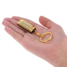 Suzuki Mini 5 Löcher 10 Ton Mundharmonika Keychain Schlüssel von C Golden D4S1