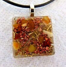 TACHYON ENERGY GENERATOR PENDANT genuine amber SOLAR PLEXUS & SACRAL CHAKRAS