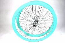 700C Wheelset Rims 43mm Seafoam-Green Teal Celeste Fixie Flip Flop Single Speed