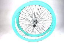 700C Wheelset Rims 43mm Seafoam-Green Teal Celeste Fixie Freewheel Single Speed