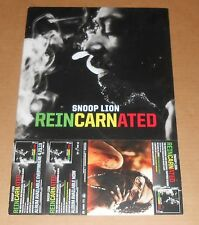 Snoop Lion Reincarnated 2-Sided Flat Promo 2013 Poster 12 x 18