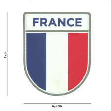 Patch PVC Drapeau Français  , airsoft,paintball,bikers,monté sur scratch 444130-