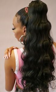 """Glamorous long 25"""" hollywood angel body wave wavy thick ponytail hair extension"""